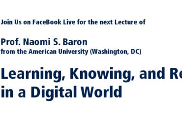 Naomi Baron Lecture
